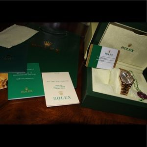 Womans rolex watch and box